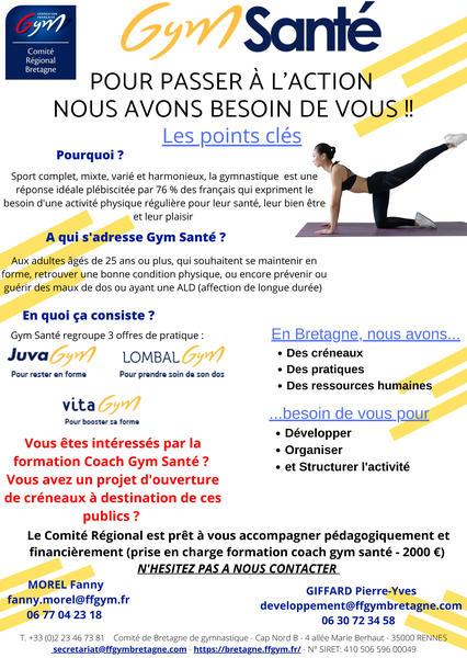 Affiche promotion Gym Santé