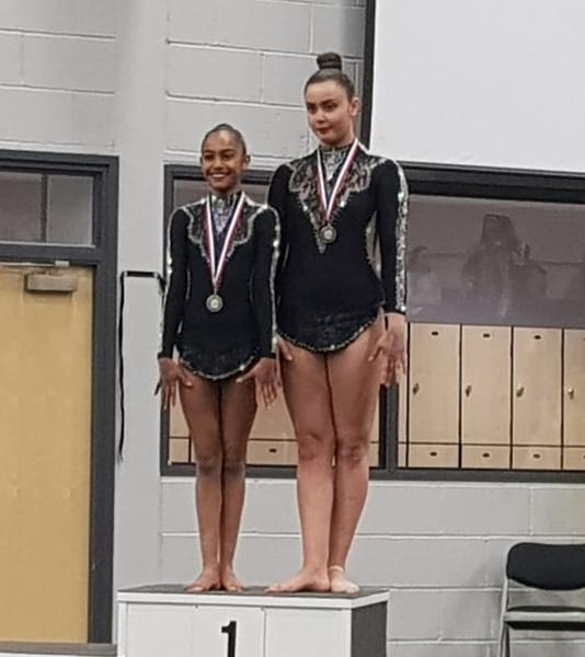 duo feminin senior -camille Lila podium