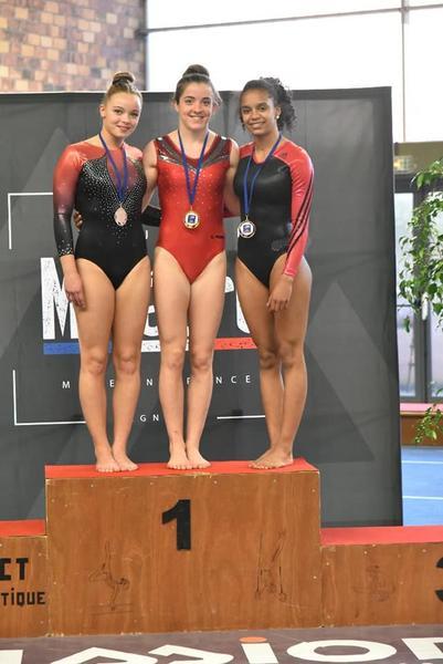 Tumbling - podium seniors filles.